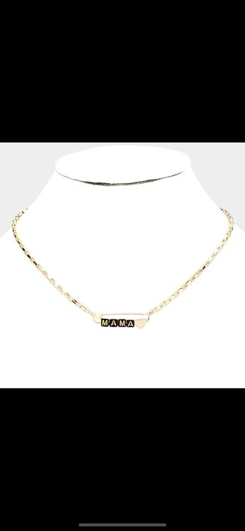 Mama Safety Pin Necklace