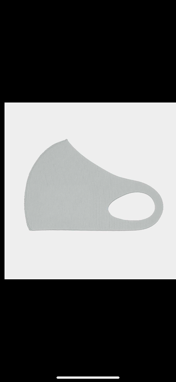Solid Poly Mask - Light Gray
