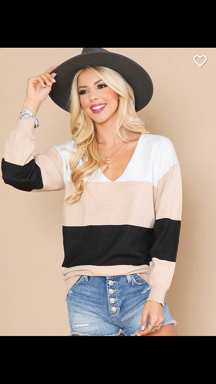 Colorblock Light Sweater