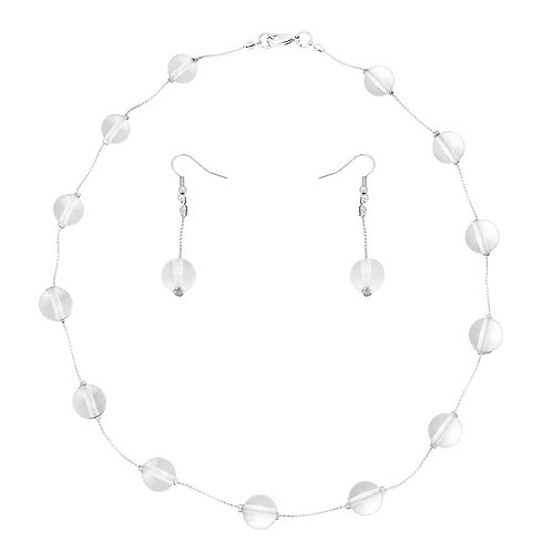 Gemstone Necklace - Clear