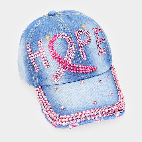 Hope Pink Ribbon Baseball Hat