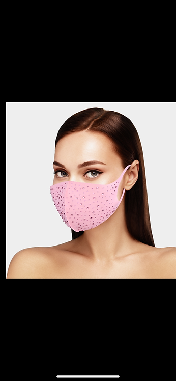 Tone on Tone Bling Mask - Pink
