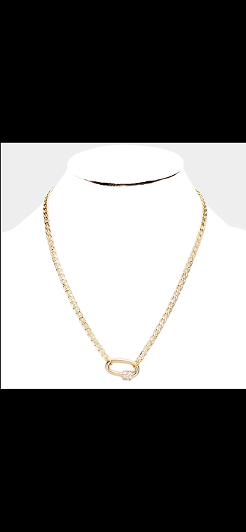 Gold Pave Pendant Chain