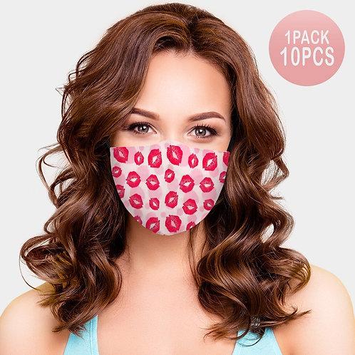 Valentine's Lips Adjustable Mask