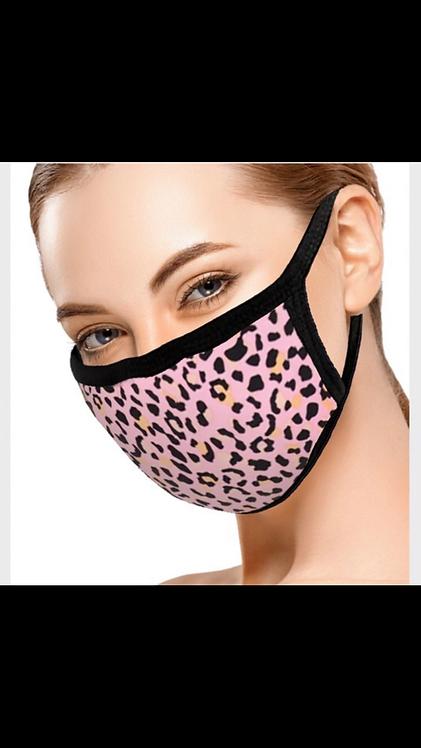 Pink Leopard Face Mask