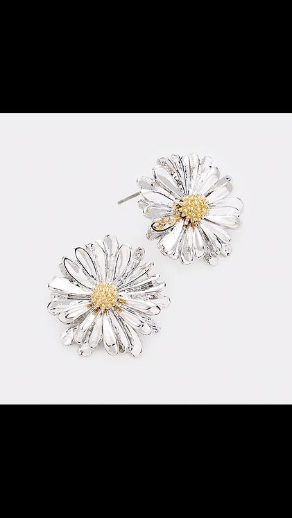 Flower Stud - Silver