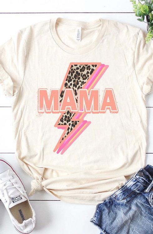 Mama Lightning Bolt Graphic Tee