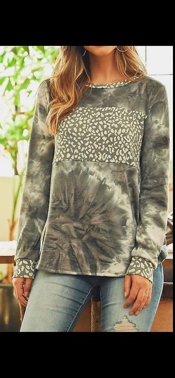 Charcoal Leopard Long Sleeve