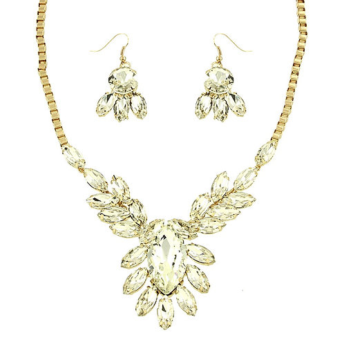 Resin Statement Necklace - Gold