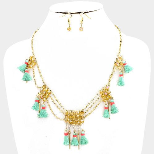 Tassel Aztec Necklace