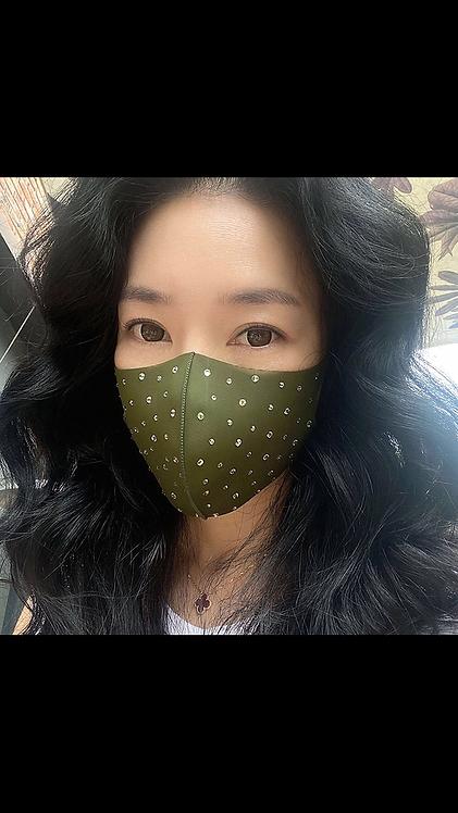Bling Face Mask - Olive
