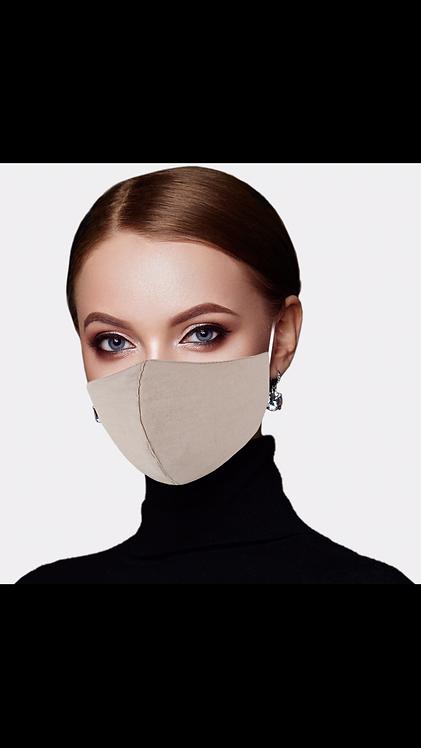Solid Adjustable Mask - Beige