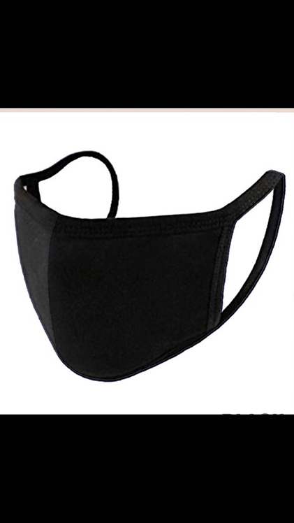 Solid Face Mask - Black