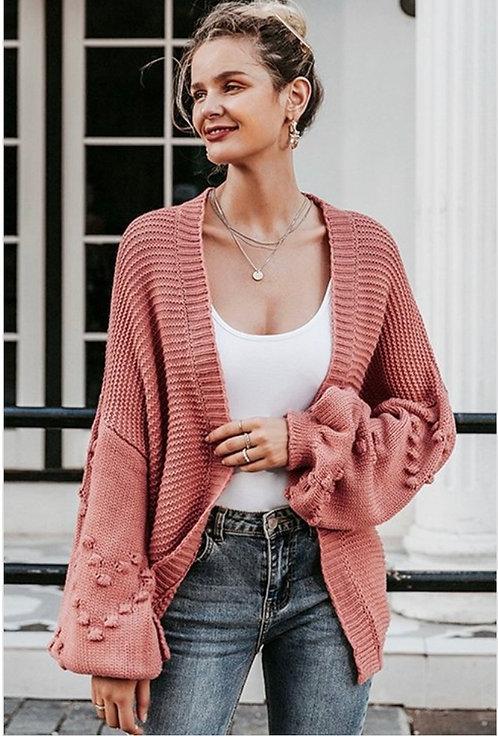 Coral Knit Cardigan