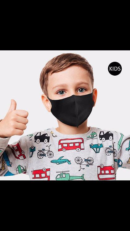 Kids Solid Mask - Black