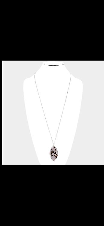 Animal Print Long Necklace - Leopard