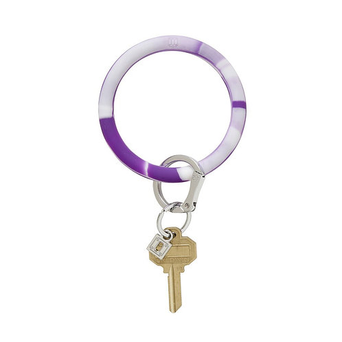 Key Ring Bracelet - Purple Marble