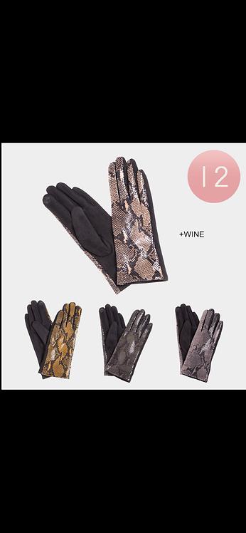 Snakeskin Gloves - Assorted