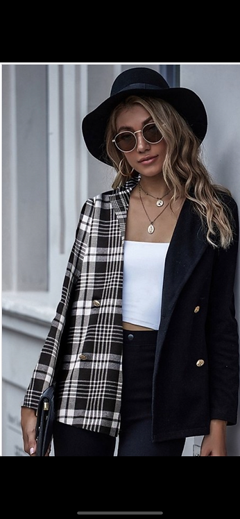 Plaid Two Tone Light Blazer