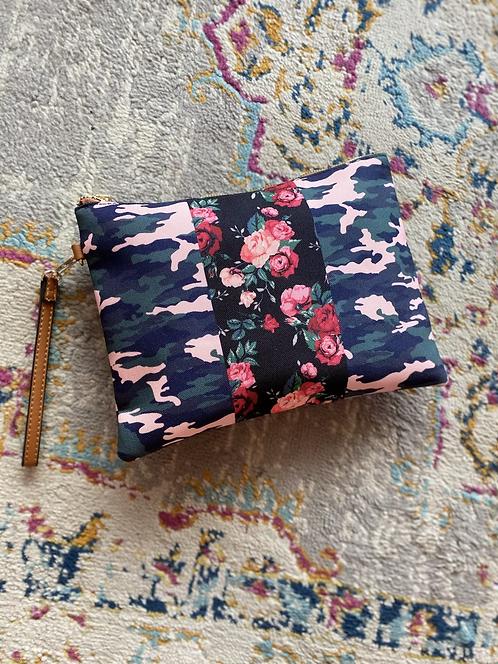Camo Floral Wristlet