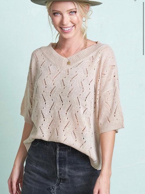 Light Summer Sweater - Taupe