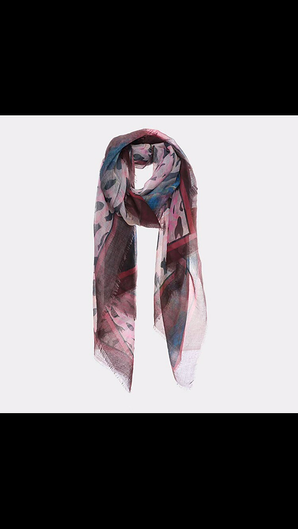 Leopard Muted Scarf - Pink