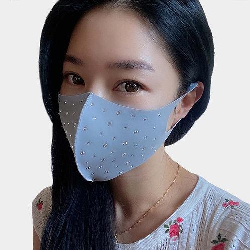 Bling Face Mask - Light Gray