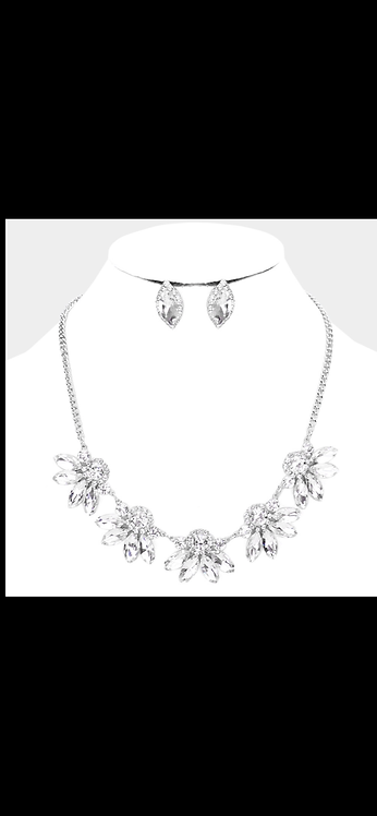 Resin Bling Necklace - Silver
