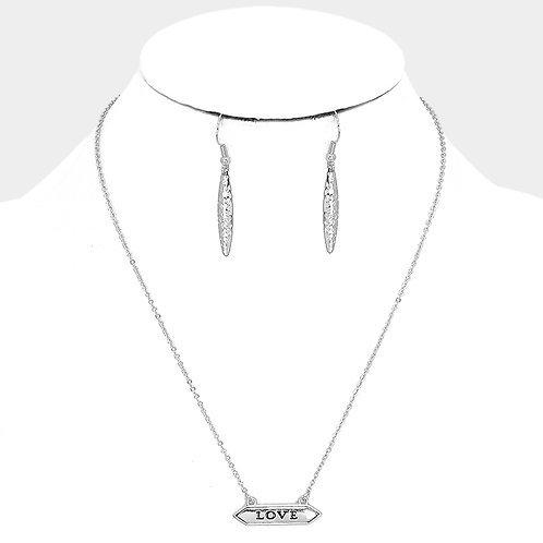 Love Simple Necklace - Silver