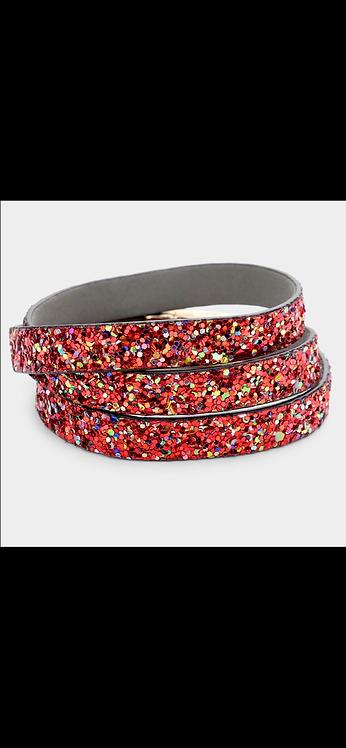 Bling Wrap Bracelet - Red