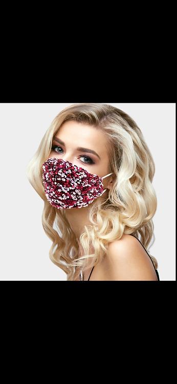Red Super Sequin Mask