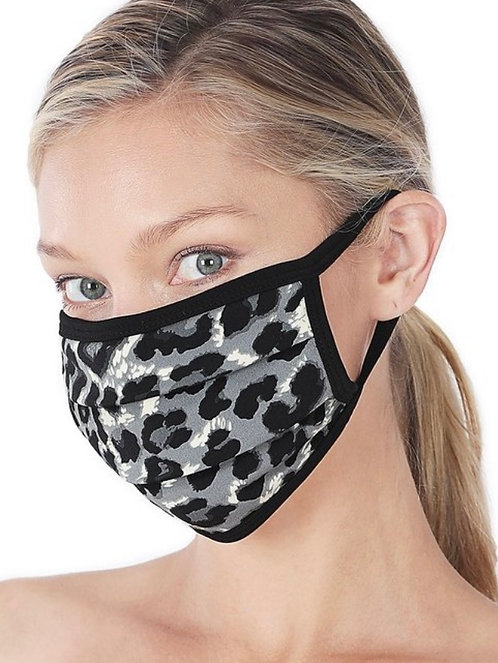 Leopard Mask - Gray