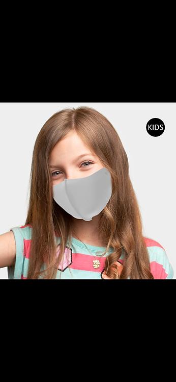 Kids Solid Adjustable Mask - Gray