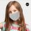 Thumbnail: Kids Solid Adjustable Mask - Gray