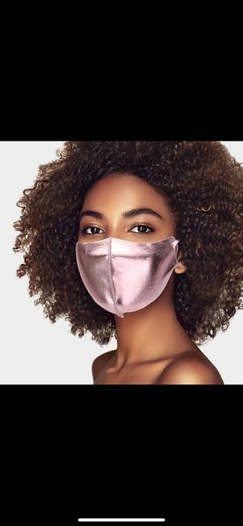 Metallic Mask - Pink