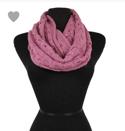 Solid Knit Infinity - Rose