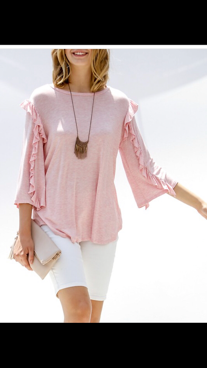 Pink Ruffle Sleeve