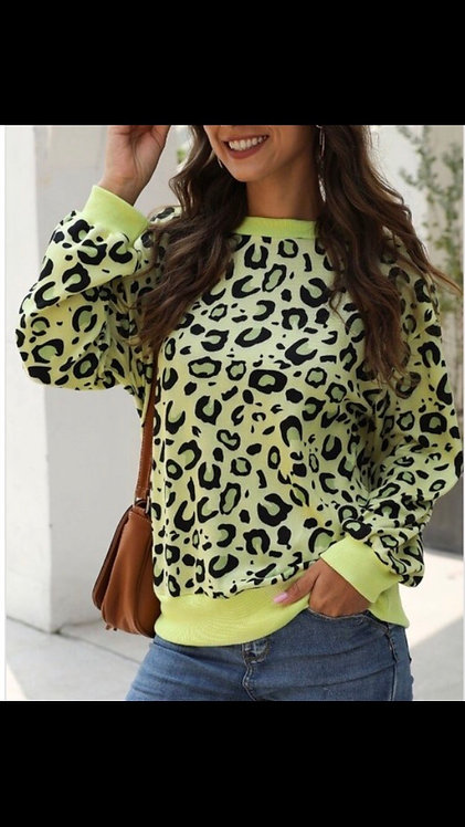 Lime Leopard Sweater