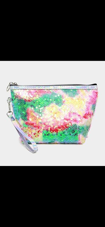 Multi Color Sequin Accessory Bag