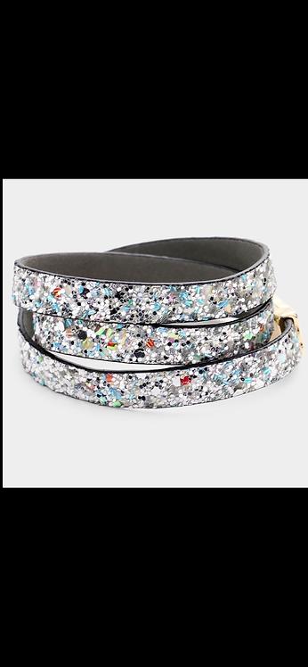 Bling Wrap Bracelet - Silver