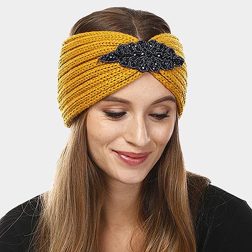 Embellished Headband - Mustard