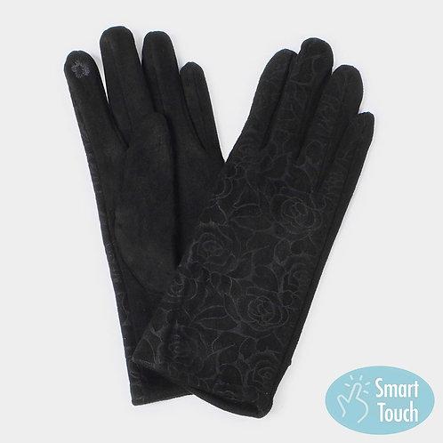 Black Floral Glove