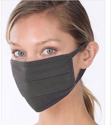 Charcoal Solid Face Mask