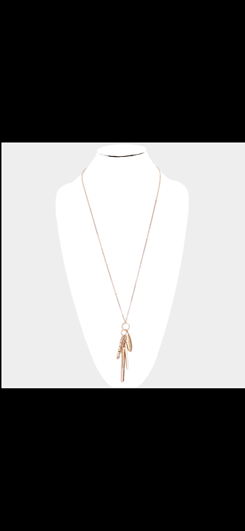 Long Charm Necklace - Gold