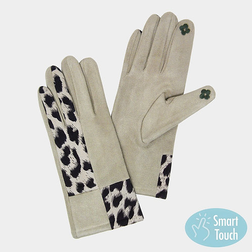 Taupe Leopard Glove