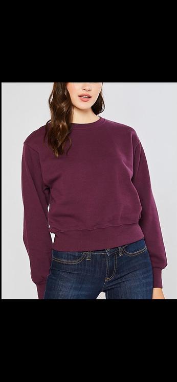Plum Solid Sweatshirt
