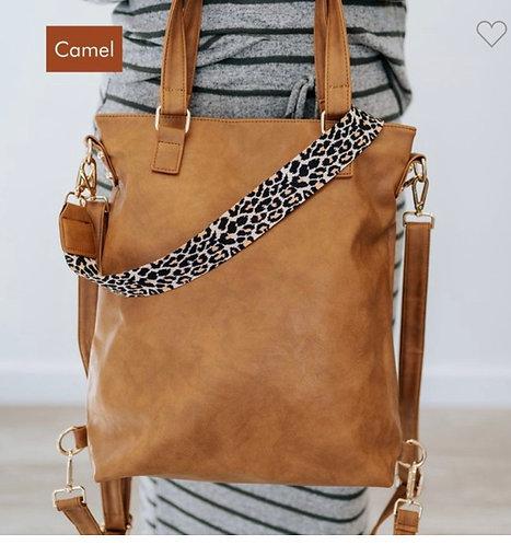 Convertible Handbag - Camel