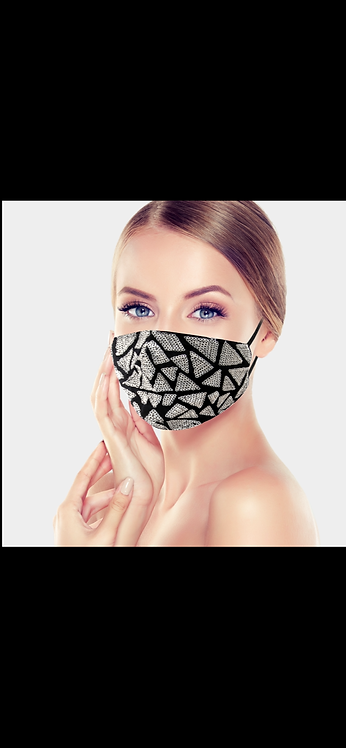 Triangle Sequin Mask - Silver