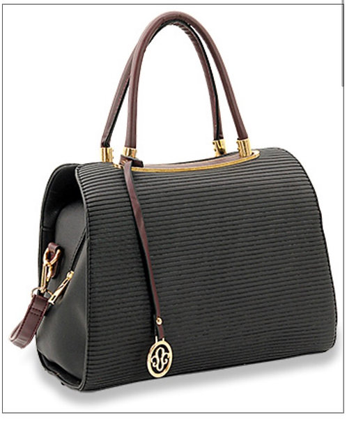 Striped Satchel Handbag