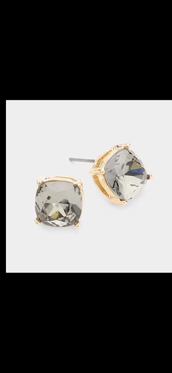 Stud Earrings - Gunmetal Gold